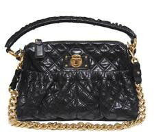 New $1395 Marc Jacobs Large Stam Black Quilted Leather Bag