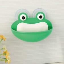 Frogs Shaped Soap Dish Holder with Suction Cups Kitchen Bathroom Soapbox Case