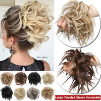 Large Thick Messy Bun Hair Scrunchie Updo Cover Curly Hair Extensions MESSY Wavy