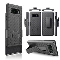For Samsung Galaxy Note 9/8/S9+ Armor Holster W/Kickstand Belt Clip Case Cover