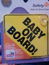 2 Pak Safety 1st Baby on Board Signs for Car