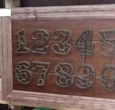 "Rustic BROWN Cast Iron Metal House Number Street Address 4.5"" Number"
