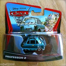 Disney PIXAR Cars 2 PROFESSOR Z #6 diecast LEMON MASTERMIND PROF ZUNDAPP SHORT