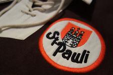 FC St. Pauli 1910 Retrotrikot! Retro-Trikot NEU! Braun/weiß Langarm Rugby-Shirt