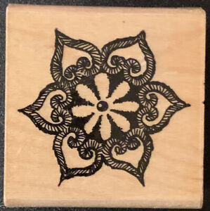 Stampendous Moroccan Flower Rubber Stamp Casbah Collection