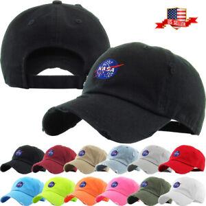 Nasa Insignia Dad Hat Baseball Cap Unconstructed - KBETHOS