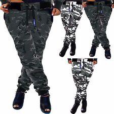 ZAHIDA Damen Jogginghose Sporthose Fitness Sport Hose Camou Camouflage Army Tarn