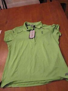 Womens Bermuda Sand Golf Shirt, NWT, L