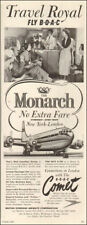 1954 AD FLY B.O.A.C.'s MONARCH Boeing Stratocruiser , COMET Jet Airliner 051218