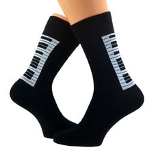 Cool Piano Design Woven Mens Socks Size UK 5-12 Eu 38-46 - X6S018