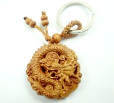 42*40MM Hand-carved Dragon Wooden Crafts,Key Chain,Key Ring Lover C9