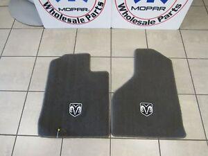 DODGE RAM 1500 2500 3500 4500 5500 Dark Khaki Carpet Floor Mat Fronts OEM MOPAR
