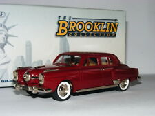 Brooklin BRK104 1950 Studebaker Land Cruiser 4-Door Sedan Maroon 1/43