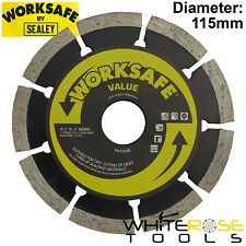 Worksafe by Sealey Value Diamond Cutting Blade 115mm x 22mm Dry Cut Disc