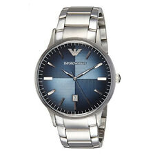 Emporio Armani AR2472 Azul Con Textura Dial Acero Inoxidable Reloj Para Hombre
