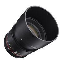 Rokinon Cine DS 85mm T1.5 AS IF UMC Full Frame Cine Lens for Canon EF - DS85M-C