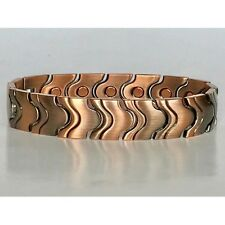 8.5  IN COPPER MAGNETIC BRACELET UNIQUE DESIGN WITH MAGNET EVERY LINK NEW 6466