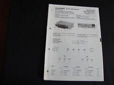 Original Service Manual Blaupunkt  Autoradio Nürnberg Nürnberg FR