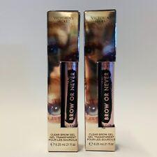 2 Victoria's Secret BROW OR NEVER Clear Eyebrow Gel 6.25 ml / .21 fl oz New