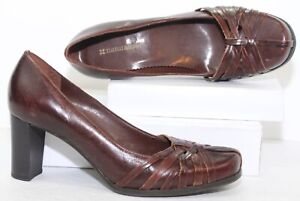 Naturalizer 737F29 Brazilian Brown Leather Pumps Heels Shoes Size 7.5 W Wide