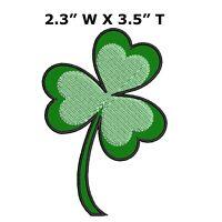Irish Pride!! Shamrock Diamond Patch Green Shamrock with Green Border
