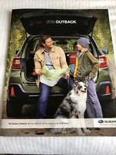 2018 SUBARU OUTBACK 26-page Original Sales Brochure