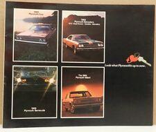 1969 HEART PLYMOUTH ROADRUNNER CUDA GTX SPORT FURY VALIANT MOPAR DEALER BROCHURE