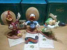 WALT DISNEY CLASSICS COLLECTION WDCC. THREE CABALLEROS AND TITLE PLAQUE