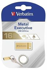 Verbatim 99104 16GB USB 3.0 Gold Metal USB Flash Drive