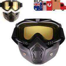 Full Face Paintball Airsoft Mask Motorcycle Goggle Tactical Detachable Face Mask