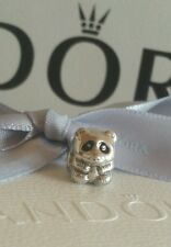 Authentic Genuine Pandora Silver Black Enamel Panda Charm Bead 790490en16