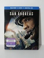 SAN ANDREAS [Blu-Ray + DVD 2-Disc] SEALED W/ SLIP SLEEVE SLIPCOVER FREE SHIPPING