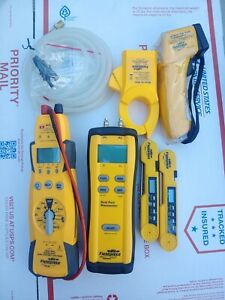 FIELDPIECE HS36 Multimeter, SDMN5 MANOMETER,SID1 Thermometer 2-SPK1 Thermometer