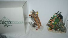 Charming Tails, Fitz and Floyd, figurine Trim a Tree, set of 2, Mib, Christmas