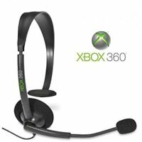 Official Microsoft Wired Headset Xbox 360 For Xbox 360 Microphone Mic Black 7E