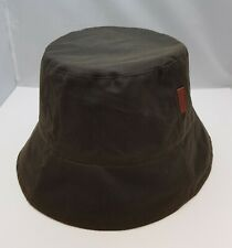 Cotton Water Proof Bucket Hat Fisherman's Reversible Olive/ Black Corduroy Hat