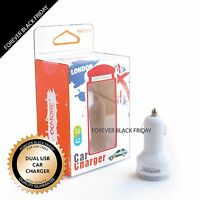 Dual USB 2 Port DC Car Charger Adapter for iPhone Samsung iPad Tablet Cell Phone