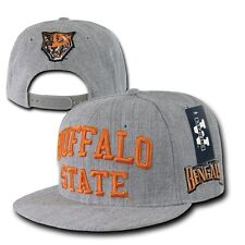 Heather Gray Buffalo State Bengals NCAA Flat Bill Snapback Baseball Ball Cap Hat
