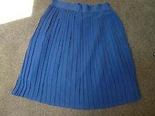 Adidas Blue Ocean Elements Pleated Skirt Chiffon Size 16 New With Tags