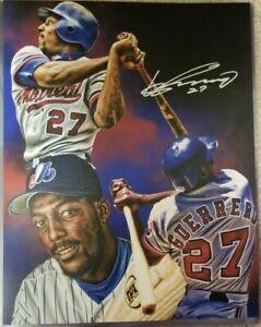 Vladimir Guerrero Sr Autographed 11x14 photo edit. Expos baseball Angels signed
