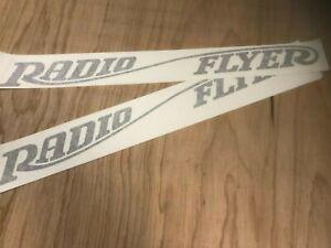 Large RADIO FLYER WAGON WHITE DECAL SET BLACK DIE CUT