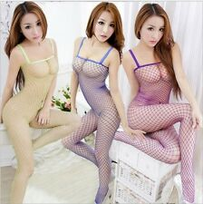 Sexy Toy Net Body Stocking Crotchless Fishnet Open Crotch Lingerie Nightwear 246