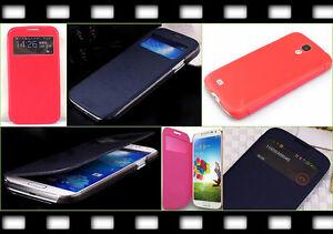 Flip Case Brief S-View Tasche Samsung Galaxy S4 i9500 i9505 Schutz Hülle Slim