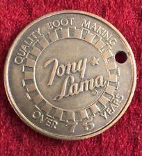 Tony Lama 75 Year Commemorative Medallion From El Paso, Texas