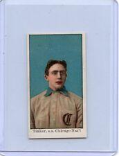 1909 (E90-1) AMERICAN CARAMEL JOE TINKER, CHICAGO CUBS, HOF, TRIMMED, 062018