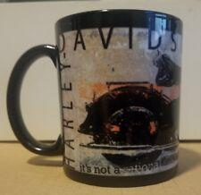 Coffee mug Harley Davidson black motorcycle rider No Cages open road driver cup
