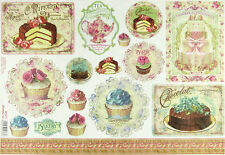 Rice Paper for Decoupage Scrapbooking Sheets Sweet Time