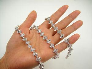 Rhinestone Bridal Dress Crystal Chain Diamante Dancing Costume Wedding Ribbon