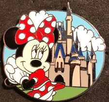 DISNEY WDW 2009 CHARACTERS WITH CINDERELLA CASTLE MYSTERY TIN MINNIE LE 1600 PIN