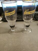 Set of 2 Negra Modelo Gold-Rimmed Beer Glasses (Mexico) - Very Nice!
